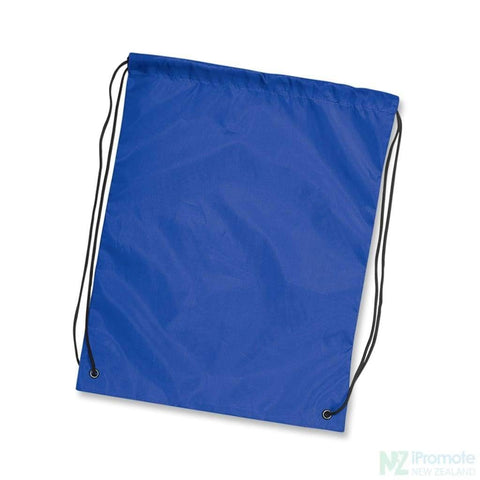 Nylon Drawstring Backpack Dark Blue Bag