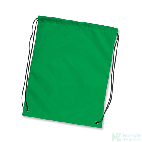 Nylon Drawstring Backpack Dark Green Bag