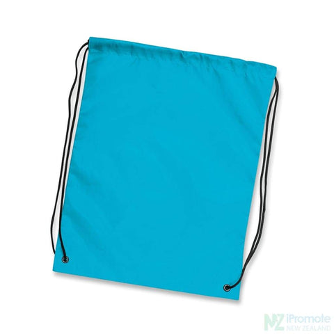 Nylon Drawstring Backpack Light Blue Bag