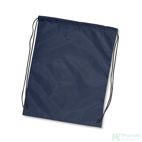 Nylon Drawstring Backpack Navy Bag