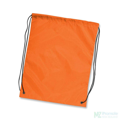Nylon Drawstring Backpack Orange Bag