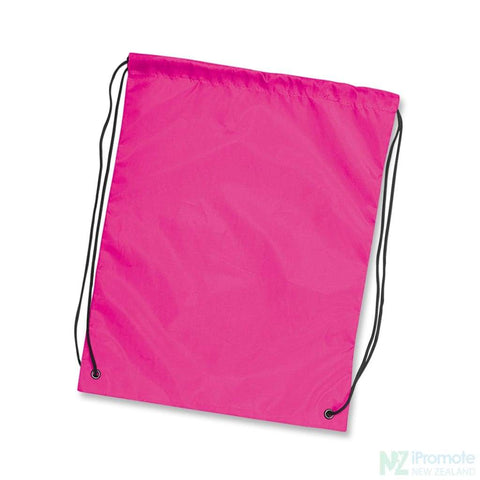 Nylon Drawstring Backpack Pink Bag