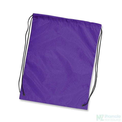 Nylon Drawstring Backpack Purple Bag