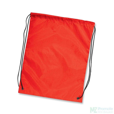 Nylon Drawstring Backpack Red Bag
