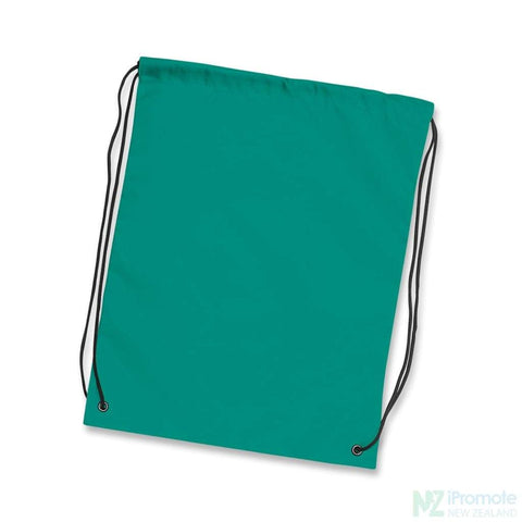 Nylon Drawstring Backpack Teal Bag