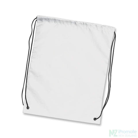 Nylon Drawstring Backpack White Bag
