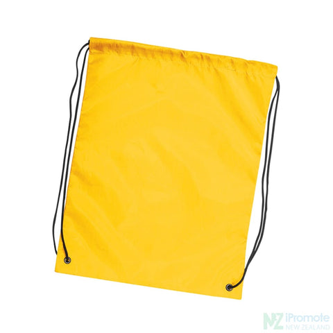 Nylon Drawstring Backpack Yellow Bag