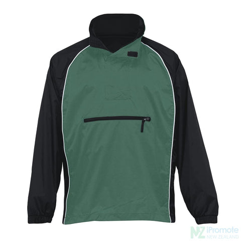 Nylon Jac Pac Spray Jacket Black/green/white Jackets