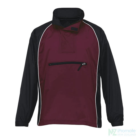 Nylon Jac Pac Spray Jacket Black/maroon/white Jackets