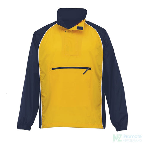 Nylon Jac Pac Spray Jacket Navy/gold/white Jackets