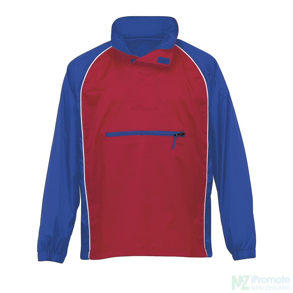 Nylon Jac Pac Spray Jacket Royal/red/white Jackets