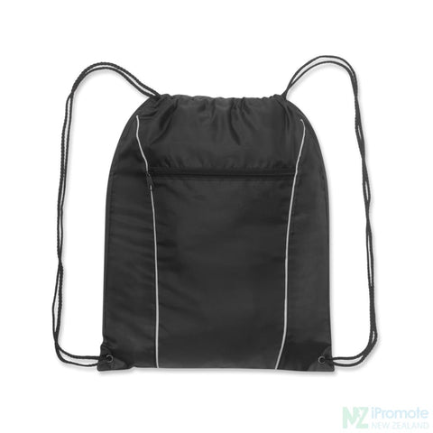 Ranger Drawstring Backpack Black Bag