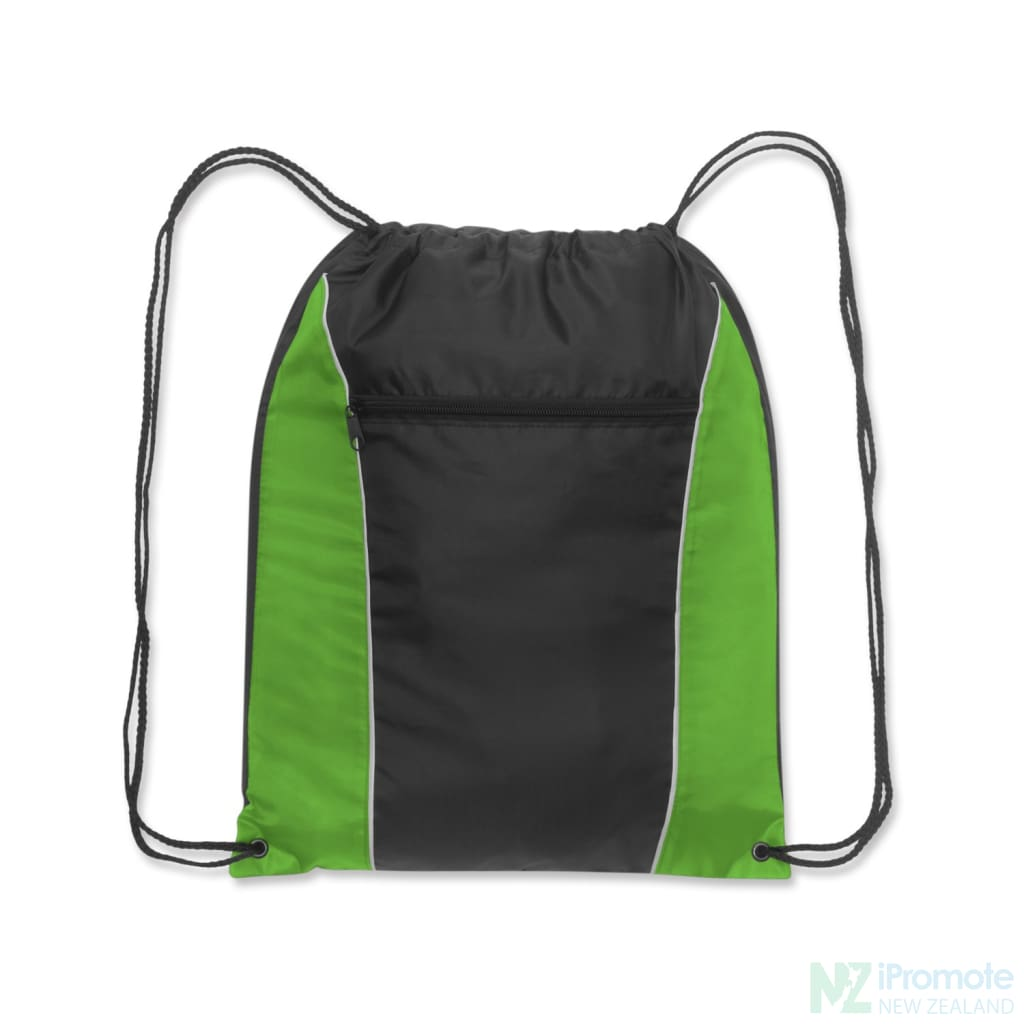 Ranger Drawstring Backpack Bright Green/black Bag