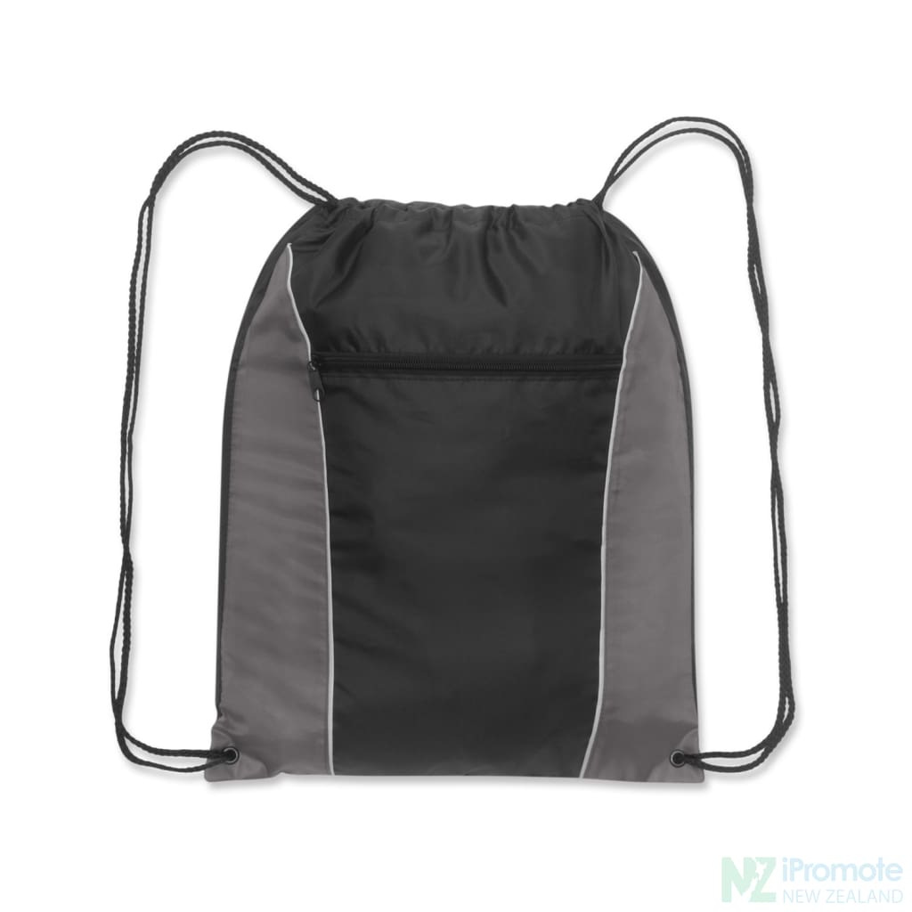 Ranger Drawstring Backpack Grey/black Bag