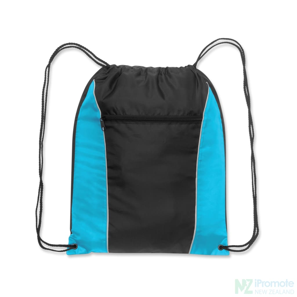 Ranger Drawstring Backpack Light Blue/black Bag