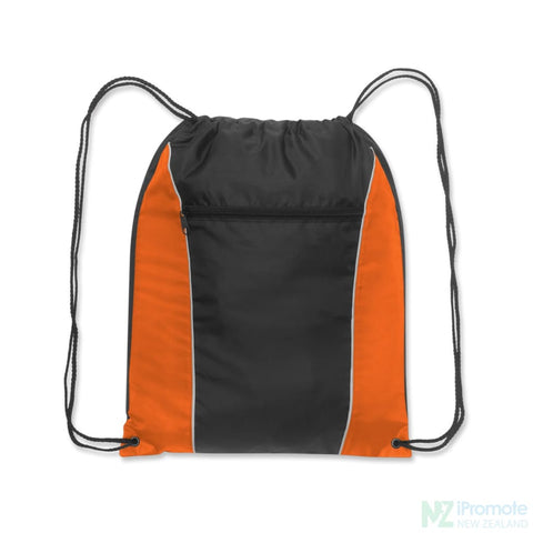 Ranger Drawstring Backpack Orange/black Bag