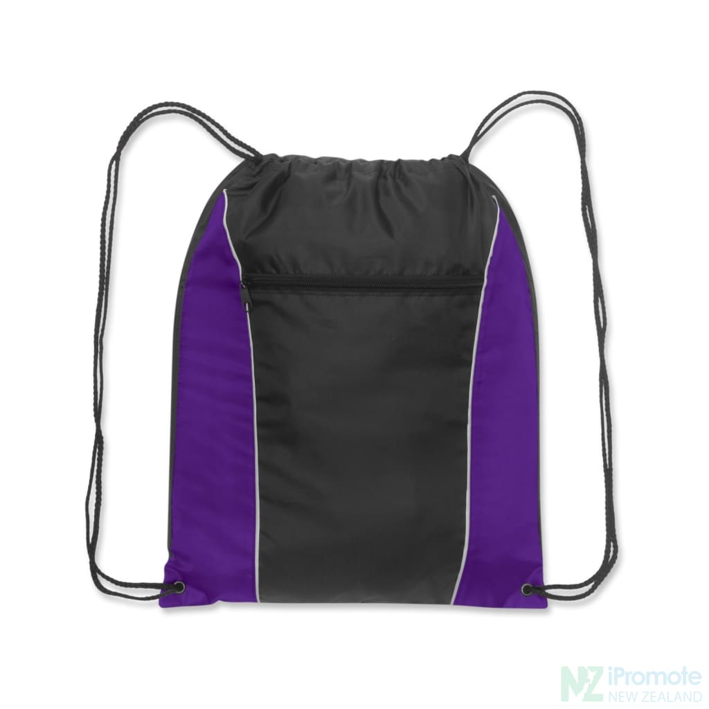 Ranger Drawstring Backpack Purple/black Bag
