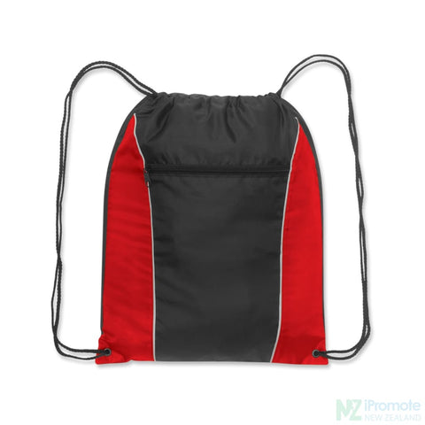 Ranger Drawstring Backpack Red/black Bag