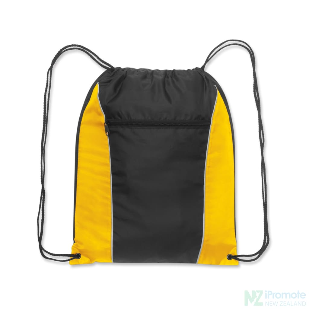 Ranger Drawstring Backpack Yellow/black Bag