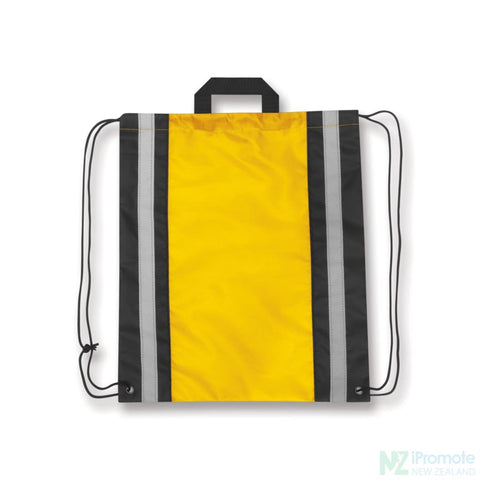 Reflecta Drawstring Backpack Yellow Bag