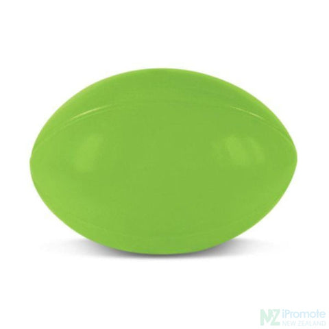 Rugby Ball Stress Reliever Bright Green Relievers