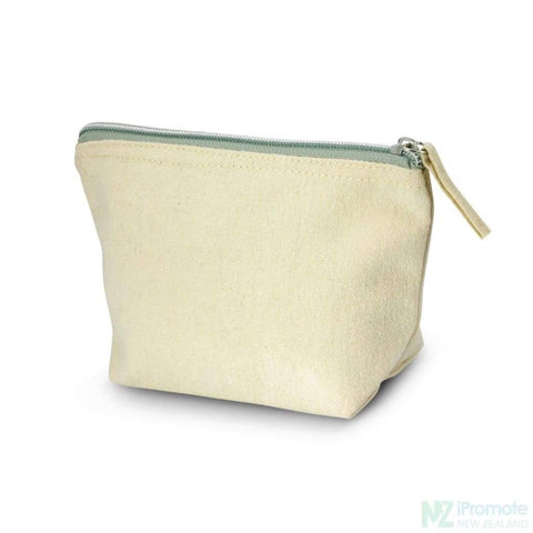 Image of Small Canvas Cosmetic Bag With Zippered Closure Bags