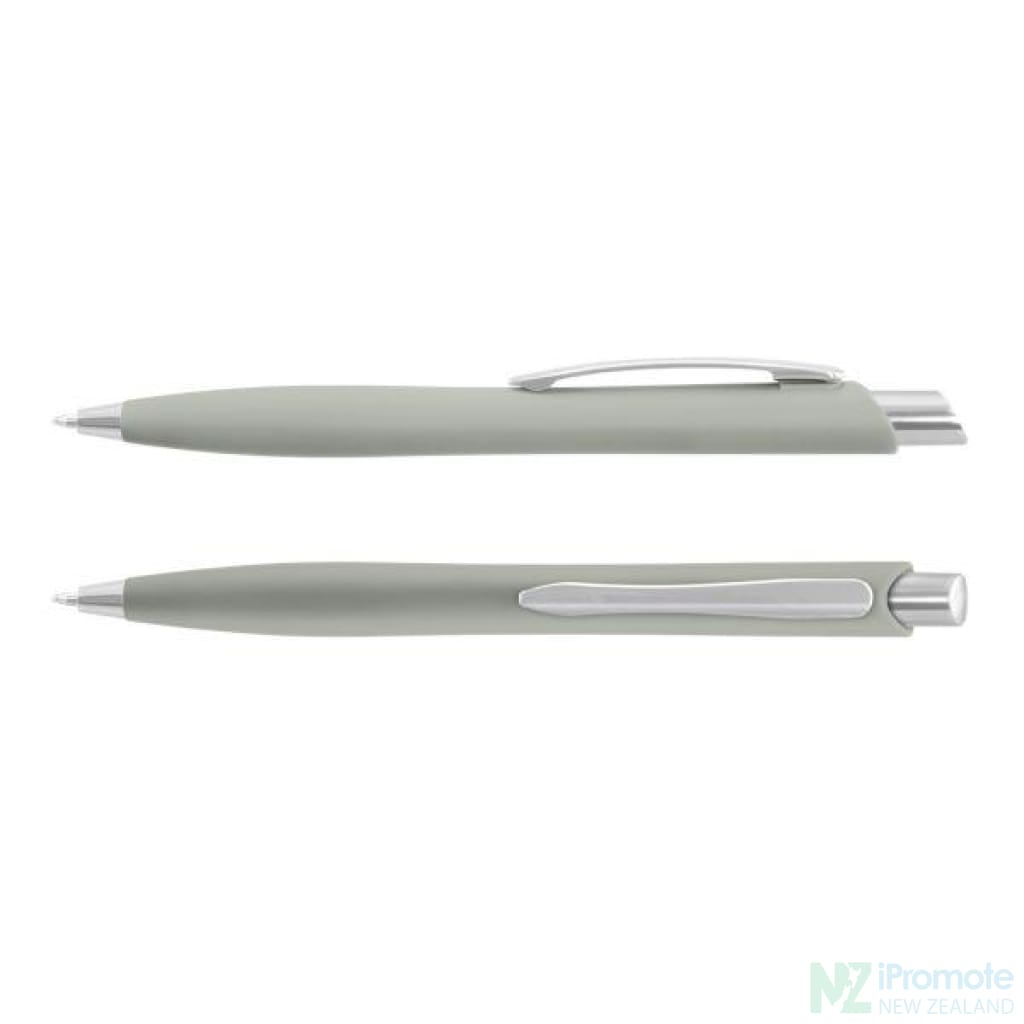 Soft Touch Business Pen Grey Plastic Promotional Pens