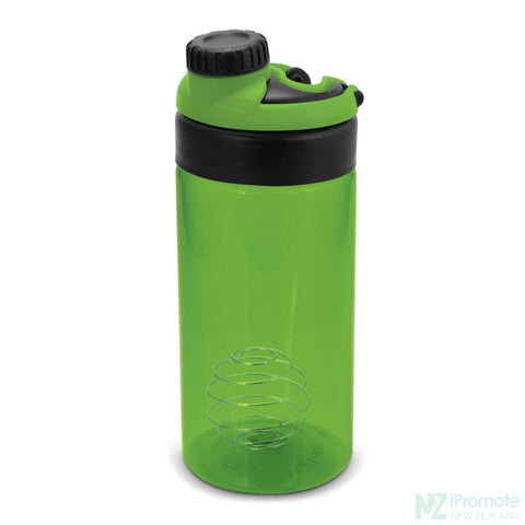 Image of Sports Shaker With Metric Markings Bright Green Bottle