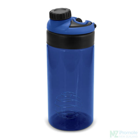 Sports Shaker With Metric Markings Dark Blue Bottle