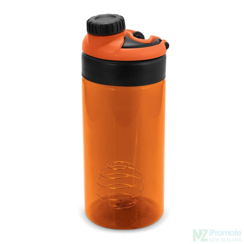 Sports Shaker With Metric Markings Orange Bottle