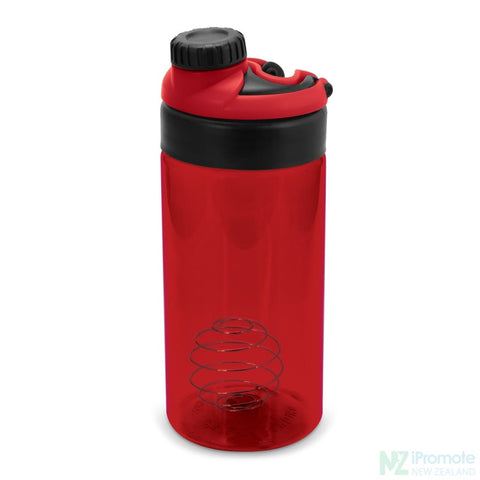 Sports Shaker With Metric Markings Red Bottle