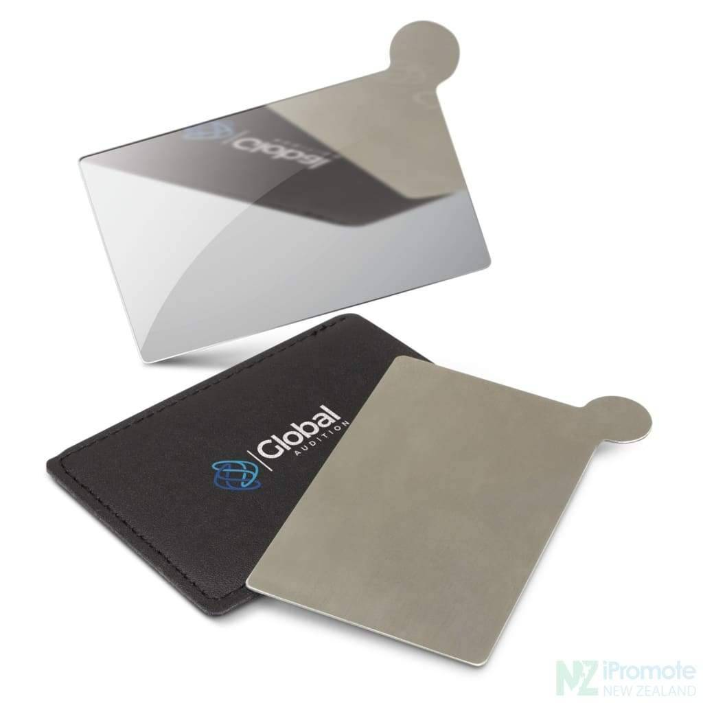Stainless Steel Personal Credit Card Size Vanity Mirror