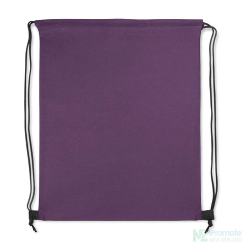Tampa Drawstring Backpack Purple Bag