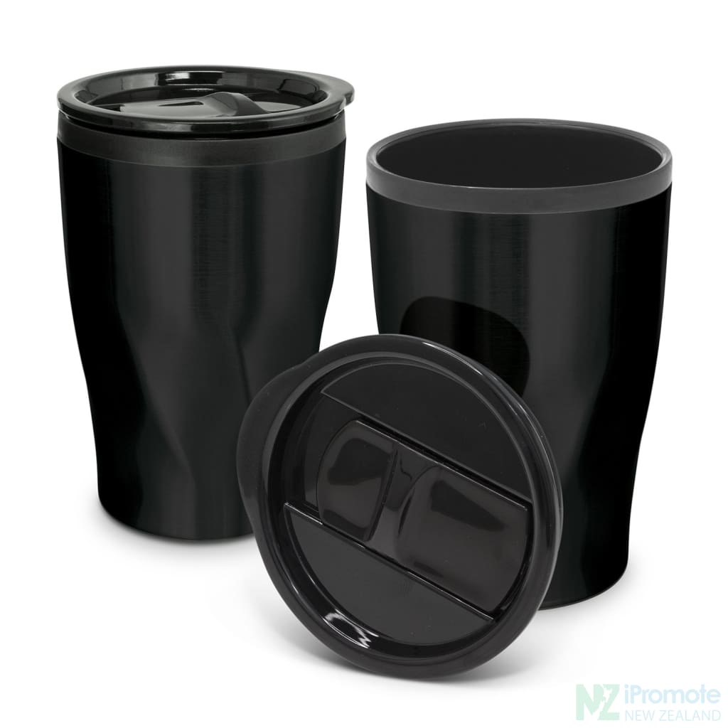 Tornado Double Wall Cup Matt Black Reusable Mugs