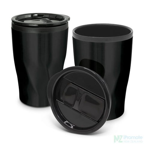Image of Tornado Double Wall Cup Matt Black Reusable Mugs