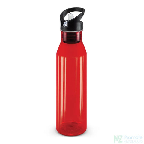 Image of Translucent Nomad Drink Bottle Red Plastic Bpa Free