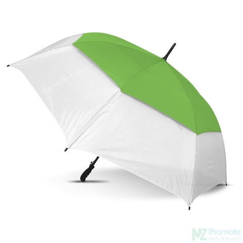 Trident Sports Umbrella With White Panels White/bright Green Umbrellas