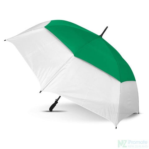 Image of Trident Sports Umbrella With White Panels White/dark Green Umbrellas