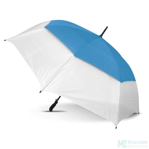 Image of Trident Sports Umbrella With White Panels White/light Blue Umbrellas