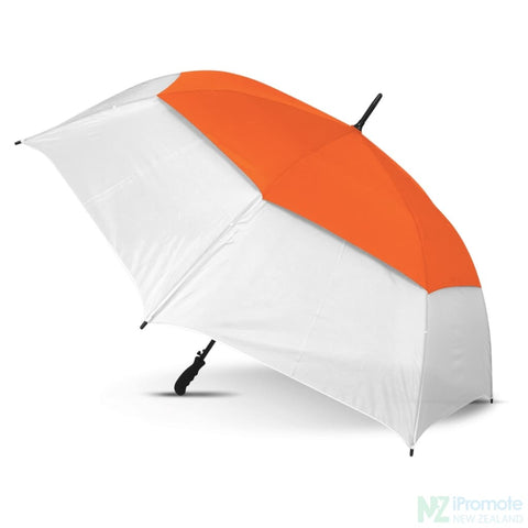Image of Trident Sports Umbrella With White Panels White/orange Umbrellas