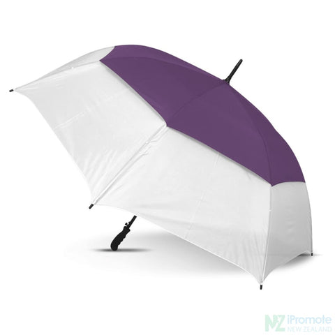Trident Sports Umbrella With White Panels White/purple Umbrellas