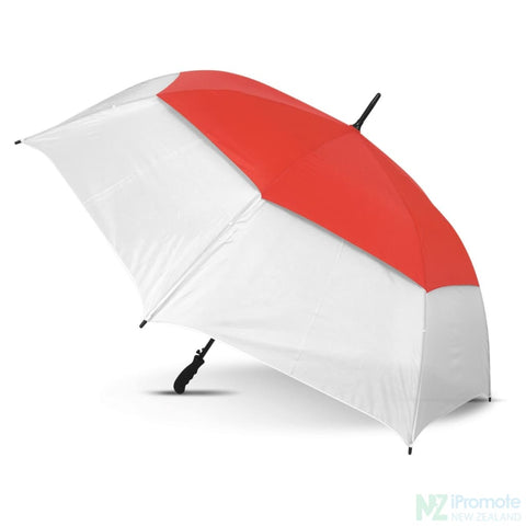 Image of Trident Sports Umbrella With White Panels White/red Umbrellas
