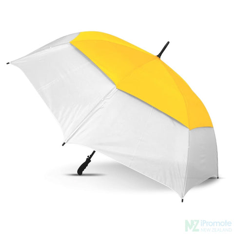 Image of Trident Sports Umbrella With White Panels White/yellow Umbrellas
