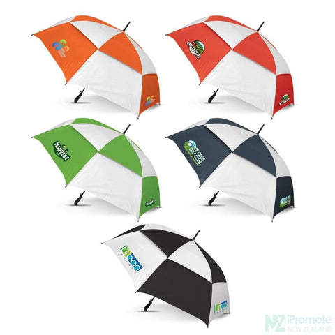 Image of Trident Umbrella With Coloured Panels Umbrellas