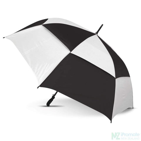 Trident Umbrella With Coloured Panels White/black Umbrellas
