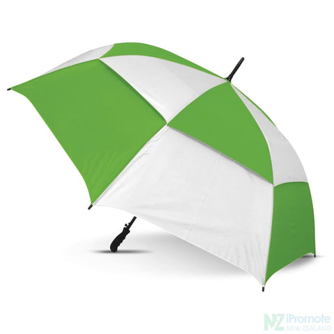 Trident Umbrella With Coloured Panels White/bright Green Umbrellas