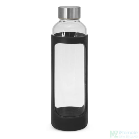 Image of Venus Drink Bottle With Silicone Sleeve Black Glass