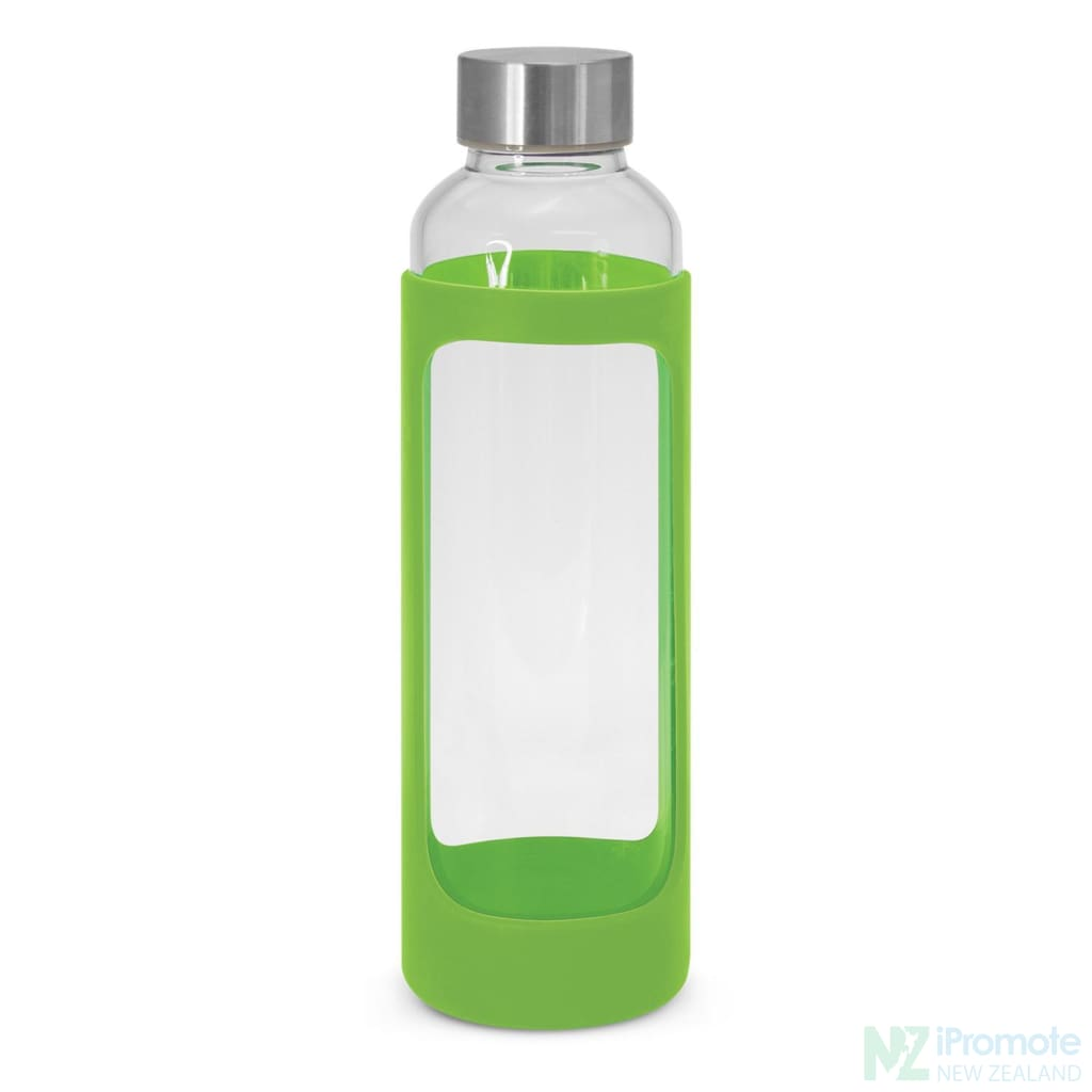 Venus Drink Bottle With Silicone Sleeve Bright Green Glass