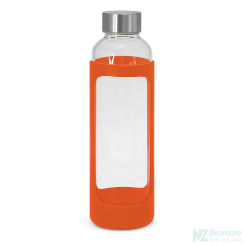 Venus Drink Bottle With Silicone Sleeve Orange Glass