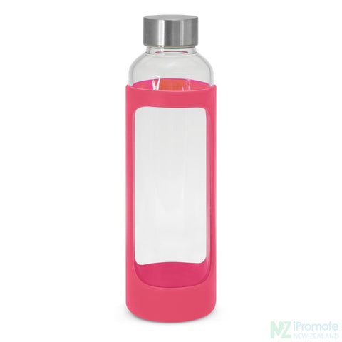 Venus Drink Bottle With Silicone Sleeve Pink Glass